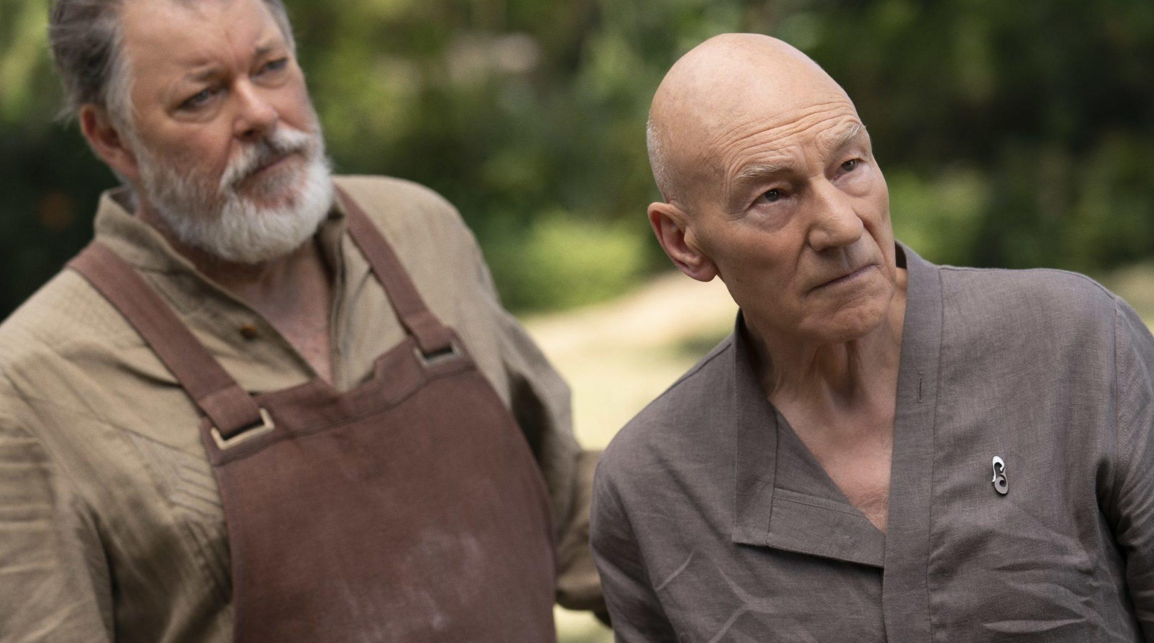 Picard und Riker in Star Trek Picard, Staffel 1, Episode 7
