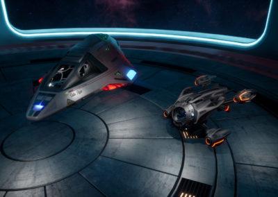 Star Trek Videospiel Vorschau STVGP - Der Deltaflyer im Shuttlehangar