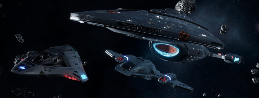 Star Trek Videospiel Vorschau STVGP - Voyager, Deltaflyer und Shuttle