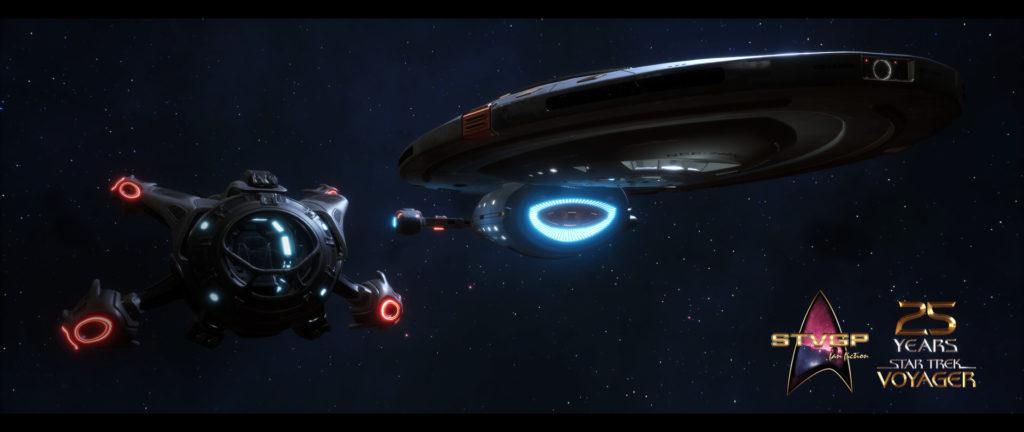 Star Trek Videospiel Vorschau STVGP - Ein Shuttle und die U.S.S. Voyager